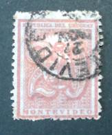 1872 URUGUAY Used Cifra 20 C. Coat Of Arms Escudo - Yvert 38 - Uruguay