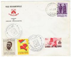 """Lettre à En-têt """"Ville De Elisabethville""""(1961)+ N°41 Et 53 /cachet """"Indépendance De L'état Du Katanga"""" 1er Anniversaire - Katanga"""