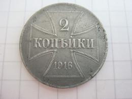 2 Kopecks 1916 (J) - [ 2] 1871-1918: Deutsches Kaiserreich