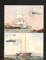 CARTES POSTALES PREMIER JOUR DE PUBLICATION BATEAUX/BOATS 5 MAY 1987 - Alderney