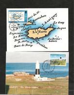 CARTES POSTALES  PREMIER JOUR DE PUBLICATION 7 JUIN 1989 ET 27 DEC 1989 - Alderney