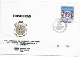 HONDURAS 1991 LAW CENTRALAMERICAN & CARIBBEAN JOURNEY RIGHTS FLAGS FDC - Honduras