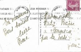 OMEC KRAG 1937 CHAMONIX Jeux Mondiaux Ski Sport - Postmark Collection (Covers)
