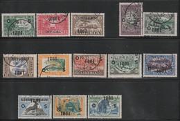 LIBERIA - Timbres De Service N°119/132 (sauf N°112) Obl (1921) SURCHARGE RENVERSEE - Liberia