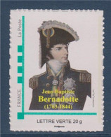 Bernadotte Jean-Baptiste, Général Puis Maréchal De France Devient Roi De Suède Et De Norvège, Lettre Verte Neuf - Personalizzati (MonTimbraMoi)
