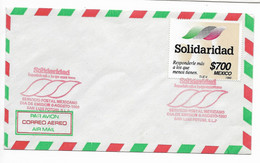 MEXICO 1990 SOLIDARITY, SOLIDARIDAD. 1 VALUE, FIRST DAY COVER - Messico
