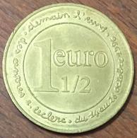 1 EURO 1/2 DEMAIN L'EURO E. LECLERC JETON COLLECTION EN MÉTAL MONNAIE CHIP COIN TOKEN MEDALS - Euros Des Villes