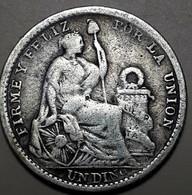 PERU : 1 DINERO 1905 KM 204.2 ZILVER - Perú