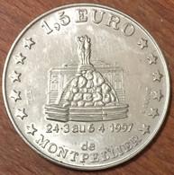 34 MONTPELLIER 1,5 EURO 1997 SUP DE CO JETON COLLECTION EN MÉTAL MONNAIE CHIP COIN TOKEN MEDALS - Euros Des Villes