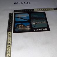 C12365 LIVIGNO PANORAMA VARIE VEDUTE DISTRIBUTORE BENZINA ESSO FUNIVIA SEGGIOVIA - Italy