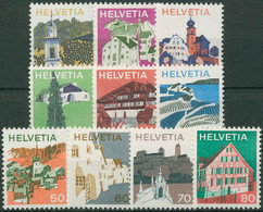 Schweiz 1973 Landschaften Sehenswürdigkeiten 1003/12 Postfrisch - Svizzera