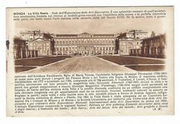 7265 - MONZA LA VILLA REALE SEDE ESPOSIZIONE ARTI DECORATIVE 1920 CIRCA - Monza