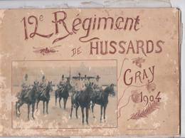 Gray, 12e Régiment De Hussards, Atelier Des Selliers, 1904, Album Souvenir, 26 Photos - Libros