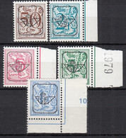 BELGIEN  1780 V, 1891 V, 2010-2012 V, Postfrisch **,  Heraldischer Löwe, 1974/79 - Belgium