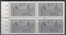 BRD  845, 4erBlock Mit Bogenzählnummer, Postfrisch **, Mainzer Dom, 1975 - Ungebraucht