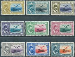PERSIA PERSE IRAN PERSIEN,1935 Poste Aerienne,Overprinted IN Black,1ch,2ch,3ch,4ch,5ch,6ch,8ch,10ch,12ch-Hinged,Not Used - Iran
