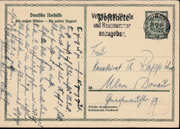 DR P 212 II, Gestempelt: Berlin-Charlottenburg 21.11.1931 - Allemagne