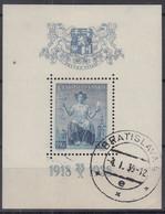 TSCHECHOSLOWAKEI  Block 5, Gestempelt, 20 Jahre Republik 1938 - Blocks & Kleinbögen