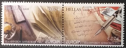 Greece 2008 - Europa - MNH As Scan - 10% Off FACE VALUE!!! - Writing Letters - 2 Stamps - Ongebruikt