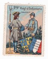 Vignette Militaire Delandre - 29ème Régiment D'infanterie - Military Heritage