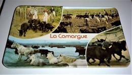 CENDRIER. VIDE POCHE EN MELAMINE . La Camargue, (avec Taureaux Et Chevaux ) 14 Cm X 9,5 Cm - Altri