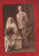 Carte Photo - Noces - Mariage , Couple , Marié , Mariée  -( Treble Derby  ) - Marriages