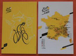 Cyclisme :  Tour De France 2020, 2 Cartes Parcours + Affiche - Ciclismo