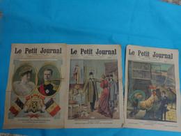 3 Numeros Le Petit Journal Janvier N°2-9-30 De 1910 Albert Elisabeth-inondation Espagne-chanteler - Journaux - Quotidiens