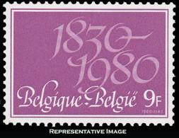 Scott 1045   9F Independence. Mint Never Hinged. - Belgium