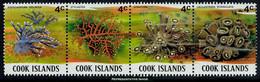 Scott 566   4c Distichopora Violacea, 4c Stylaster, 4c Gonipora And 4c Caulastraea Echinulata Coral Se-tenant Stri... - Cook