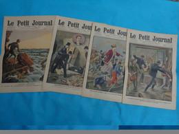 4 Numeros Le Petit Journal Fevrier  N°6-13-20-27 De 1910 Inondation-rescape De Gal Chanzy-assassinat D'un Garcon Etc... - Journaux - Quotidiens