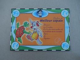 """Diplome Du Meilleur Copain  Lapin Et Tortue  """" Neuve  """"  Edit Carterie De La Carotte - Humour"""