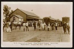 Carte Photo - Chemin De Fer De Benguela Railway - Gare De Lobito Station - 2 Scans - Angola