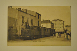 42 Loire Roanne Les Canaux Train Tramway Superbe Vue Top Carte - Roanne