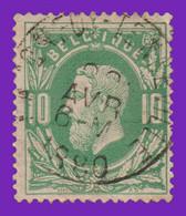 "COB 30 - Belle Oblitération ""BACONFOY-TENNEVILLE"" - 1869-1883 Leopold II"