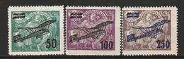 TCHECOSLOVAQUIE - PA N°7/9  */** (1922)  Aviation Surchargés - Luftpost