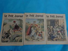 3 N° Le Petit Journal Mars  N°6-20-27 De 1910 Honneur Heros-expansion Coloniale-fiegenschuh-prison Espagne-dalai Lama - Journaux - Quotidiens