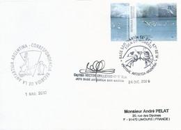 Lettre Avec Timbre Argentine N°2662 - Cachet Base San Martin Du 24/12/2009 - Forschungsprogramme