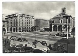 7289 - LIVORNO PIAZZA GRANDE ANIMATA AUTOMOBILI AUTOBUS 1959 - Livorno