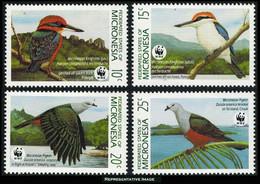 Scott 106-109   10c Kingfisher, 15c Kingfisher, 20c Pigeon And 25c Pigeon Micronesian Kingfishers And Pigeons. Min... - Micronesia