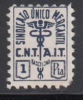 Sindicato único Mercantil, C.N.T., A.I.T. Barcelona 1 P. Azul, (Al.126) - Viñetas De La Guerra Civil