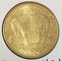 24 LE BUGUE SUR VÉZÈRE AQUARIUM ANACONDA SERPENT MEDAILLE TOURISTIQUE MONNAIE DE PARIS 2011 JETON MEDALS COINS TOKENS - Monnaie De Paris