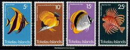 Scott 45-48   5c Moorish Idol, 10c Long Nosed Butterflyfish, 15c Lined Butterflyfish And 25c Red Firefish. Mint Ne... - Tokelau