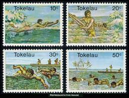 Scott 73-76   10c, 20c, 30c And 50cSurfing And Swimming. Mint Never Hinged. - Tokelau