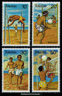 Scott 77-80   10c Pole Vaulting, 20c Volleyball, 30c Running And 50c Volleyball Sports. Mint Never Hinged. - Tokelau