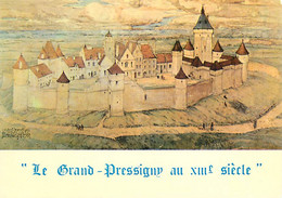 37 - Le Grand Pressigny - Le Grand Pressigny Au XIIIe Siècle - Reconstitution Par M. Lucien Porcheron (1931) - Carte Neu - Le Grand-Pressigny