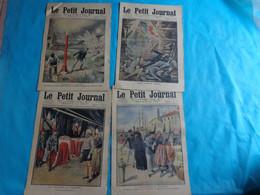 4 N° Le Petit Journal Juin  N°5-12-19-26 De 1910  Pluviose Catastrophe-mort Por La France-pun Velo America - Journaux - Quotidiens