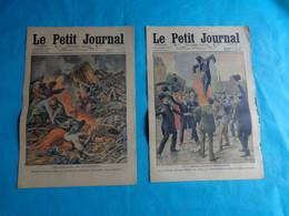 2 N° Le Petit Journal Juillet  N°3-10 De 1910 Collision Villepreux-geants De Valenciennes-croque Morts - Journaux - Quotidiens