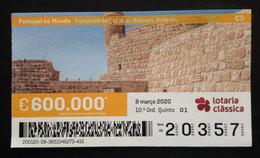 "Portugal, Lottery Ticket, ARCHITECTURE, ""Portugal In The World"", Bahrein, 2020 - Loterijbiljetten"