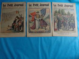 3 N° Le Petit Journal Septembre 4-18-25 De 1910 Aeroplane-braves Gens Floing Et Illy -50 Ans Reunion Savoie A La France - Journaux - Quotidiens